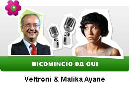Veltroni e Malika Ayane