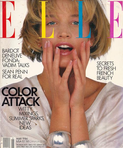 Copertina di Elle, maggio 1986