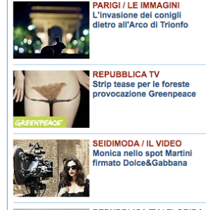 Screen shot home Repubblica 8 settembre 2010