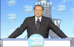 Berlusconi alla Festa PdL Castello Sforzesco Milano