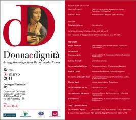 Donna e Dignità, TP associazione pubblicitari professionisti