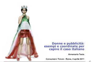 Copertina presentazione Testa al Consumers' Forum