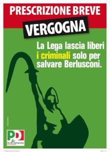 Pd Emilia Romagna, manifesto contro la Lega