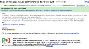 Bersani, mail del 13 agosto 2011