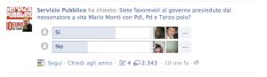 Sondaggi Santoro su Facebook seconda puntata 1