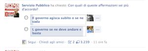 Sondaggio Santoro Facebook 1