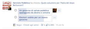 Sondaggio Santoro Facebook 2