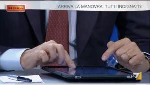 In onda, Gasparri che scrive sul tablet