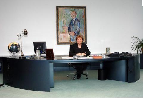 Merkel in studio