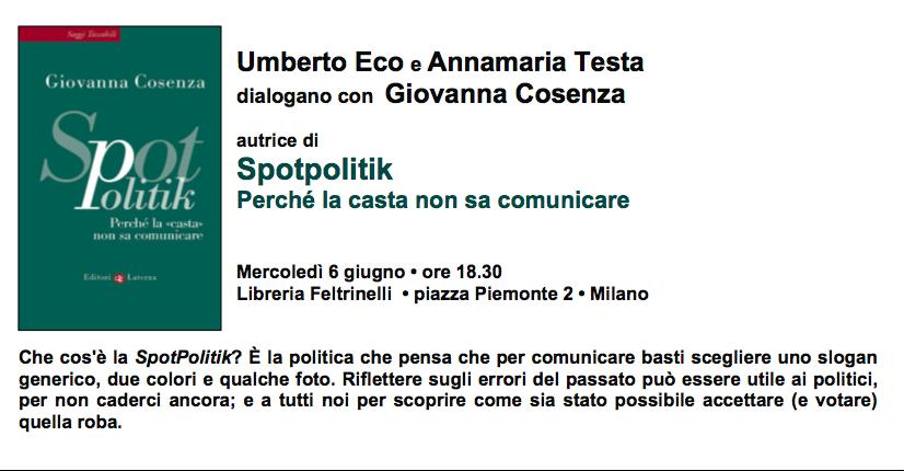 SpotPolitik presentazione a Milano