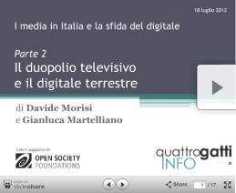 Il duopolio televisivo e il digitale terrestre