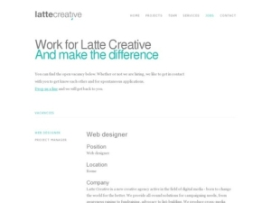 Work for Lattecreative