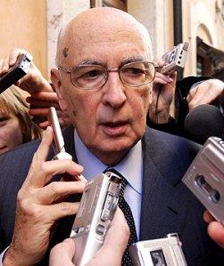 Napolitano fra giornalisti