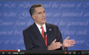 Romney che spara con le mani