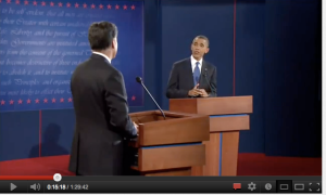 Romney dritto con la testa