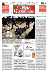 Il Fatto Quotidiano 15 novembre 2012