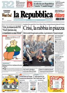 La Repubblica 15 novembre 2012