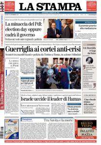 La Stampa 15 novembre 2012