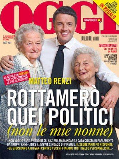 Renzi con le nonne su Oggi
