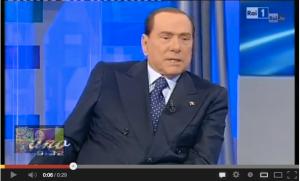Berlusconi a Uno Mattina 27 dicembre 2012