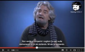 Grillo nel video dell'11 dicembre 2012