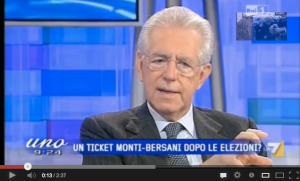 Monti in tv
