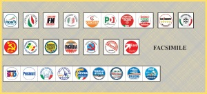 Facsimile scheda elettorale 2013 Campania