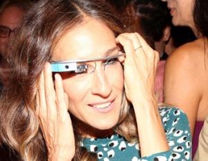 Sarah Jessica Parker con Google Glass