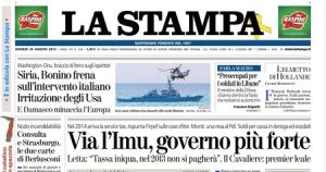 La Stampa 29 agosto 2013
