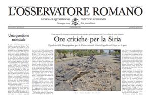 Osservatore Romano 29 agosto 2013