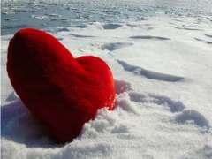 Un cuore nella neve