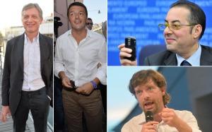 I quattro candidati alle primarie del Pd