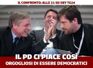 I tre candidati Pd