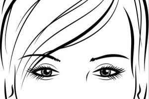 Occhi ragazza manga