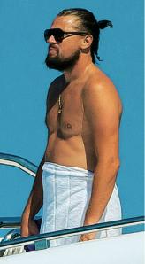 DiCaprio con pancetta
