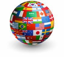 Globo fatto di bandiere