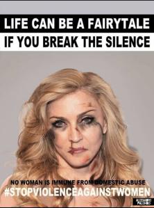 Madonna contro la violenza